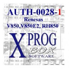 ELDB AUTORYZACJA XPROG AUTH-0028-1 Renesas V850,V850E2,RH850