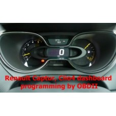 S7.37 Renault Clio 4, Captur dashboard programming by OBDII