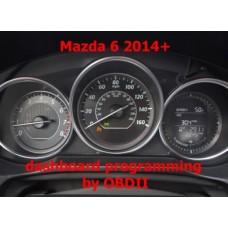 S7.40 Mazda 6 2013+ dashboard programming by OBDII