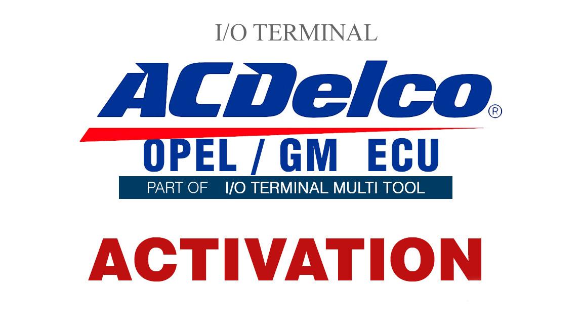 Aktywacja I/O Terminal AC Delco